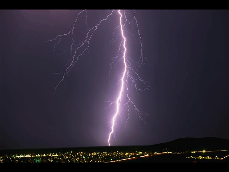 Diapositive - Image d'un éclair