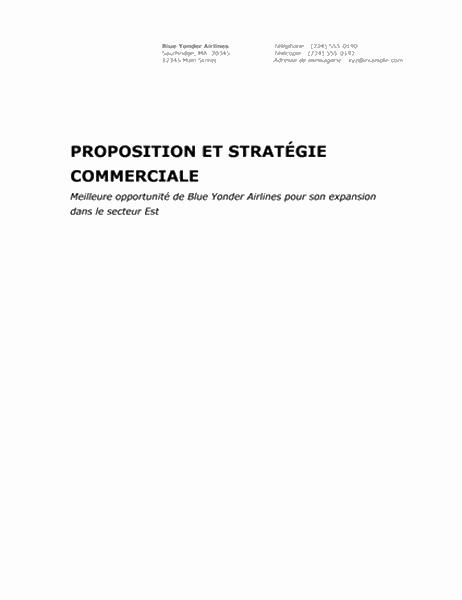 Rapport commercial (thème Professionnel)