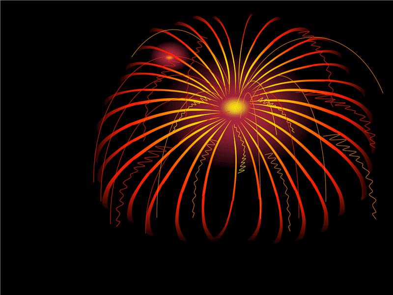 Modèle avec motif de feux d'artifice