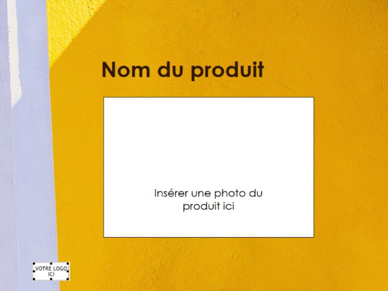 Présentation d'une vue d'ensemble d'un produit
