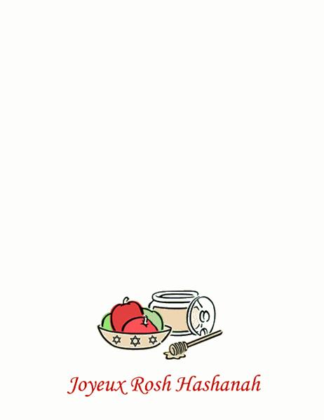 Carte Roch Hashana (avec des pommes et du miel)