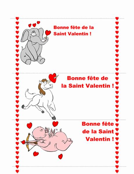 Carte pour la Saint Valentin (3 pages)