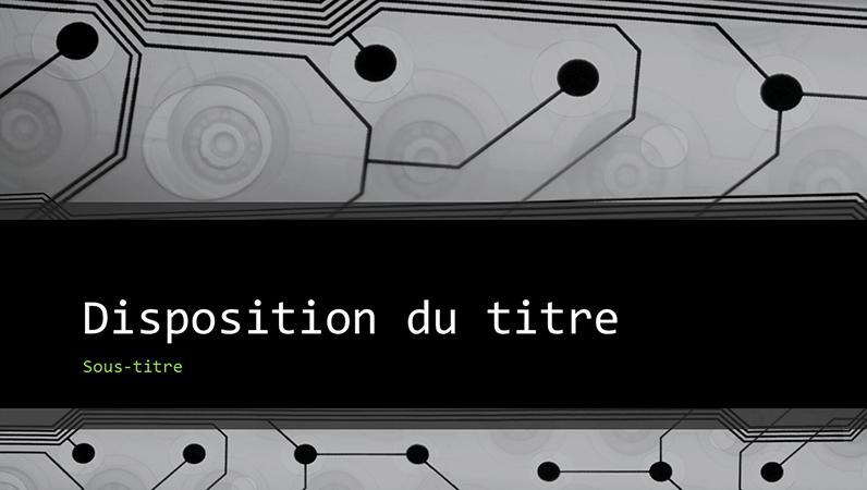 Présentation technologique circuit imprimé pour professionnels (grand écran)