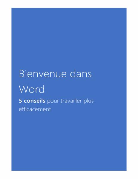 Bienvenue dans Word2013