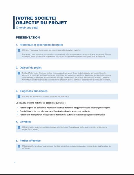 Objectif général de projet