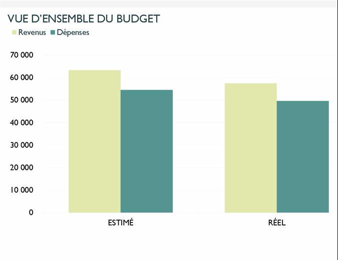 Budget mensuel de l'entreprise