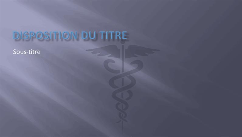 Diapositives pour modèle de présentation médicale