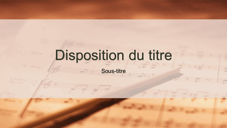Diapositives de conception d'une partition musicale