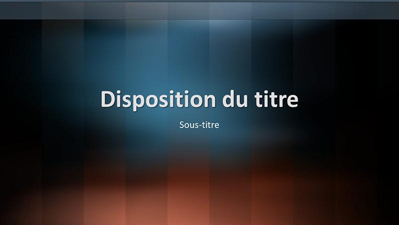 Diapositives de conception Lexique vertical