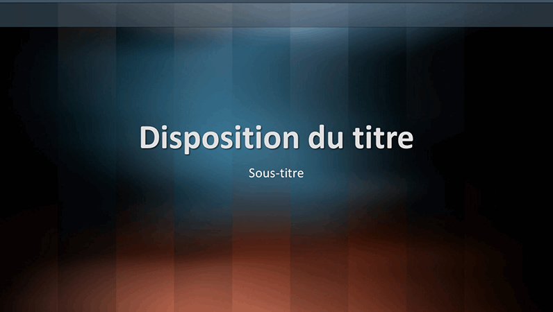 Diapositives de conception Lexique vertical