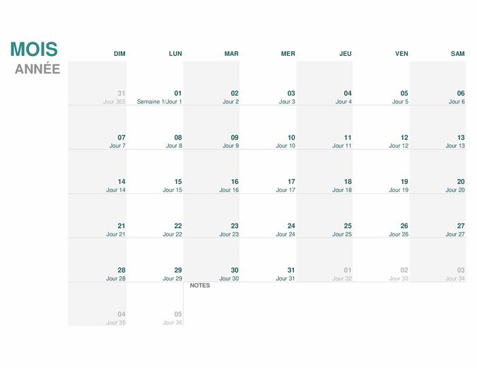 Calendrier julien (une année)