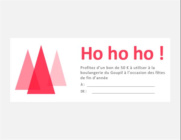 Bons-cadeaux pour Noël (10 par page)