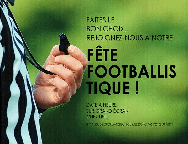 Prospectus de fête footballistique