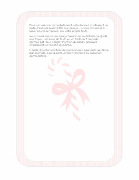 Papier à lettres festif (avec un sucre d'orge en filigrane)