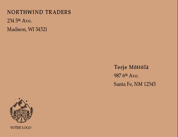 Enveloppe (conception Rouge)