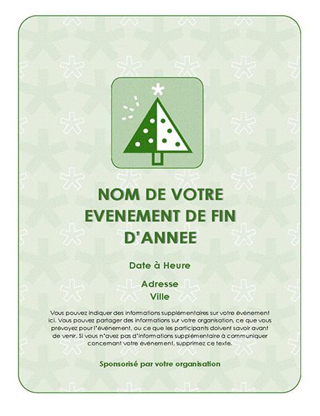 Prospectus d'événement de fin d'année (avec arbre vert)