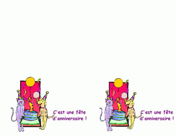 Invitation à un goûter d'anniversaire