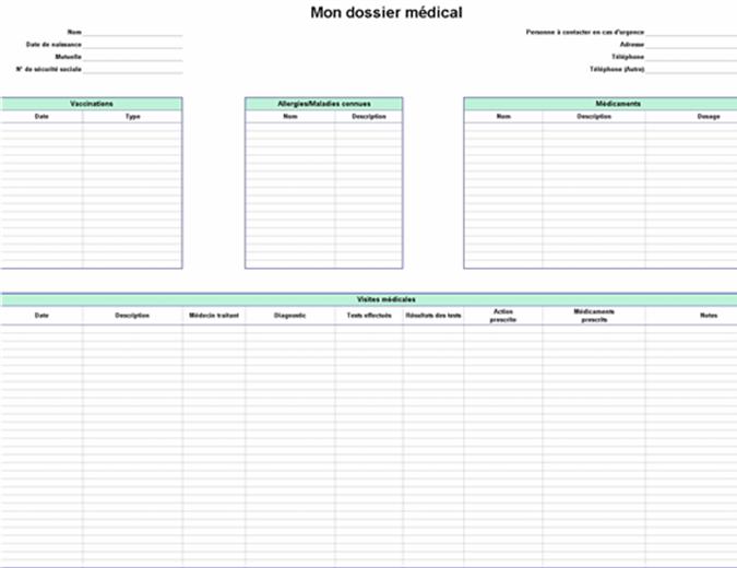 Mon dossier médical