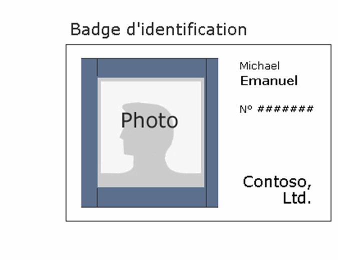 Badge des employés (paysage)