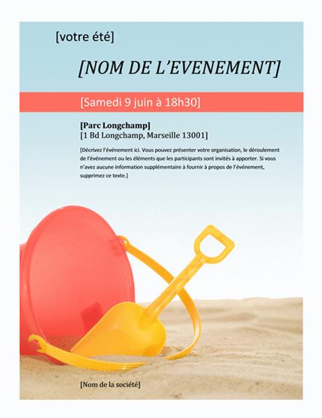 Prospectus pour événement d'été