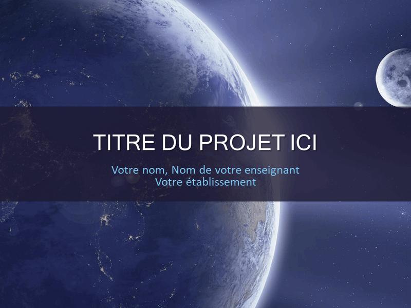 Projet scolaire sur le système solaire