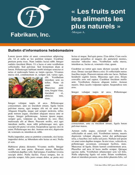 Bulletin d'informations hebdomadaire