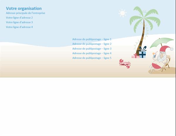 Envelope (design Père Noël en été)