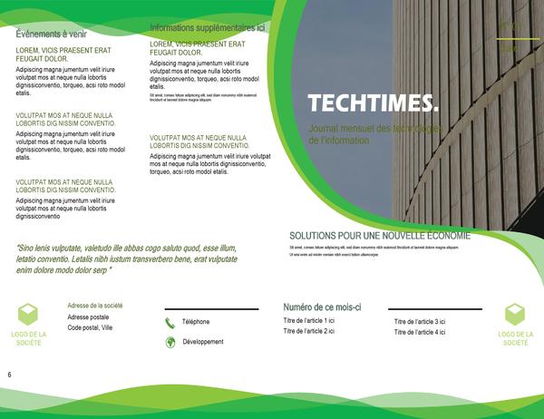 Bulletin d'informations (modèle Vague verte)