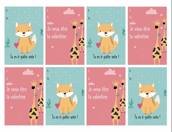 Cartes de Saint-Valentin pour les enfants