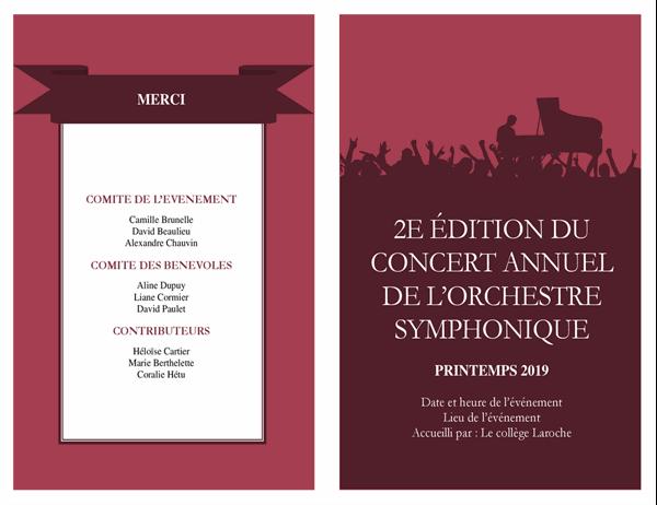 Programme de concert