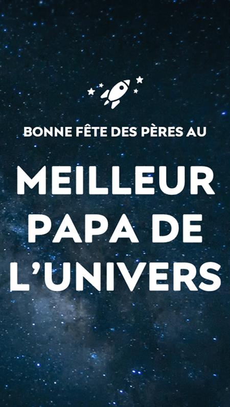 Cartes de fête des pères - Thème de l'espace