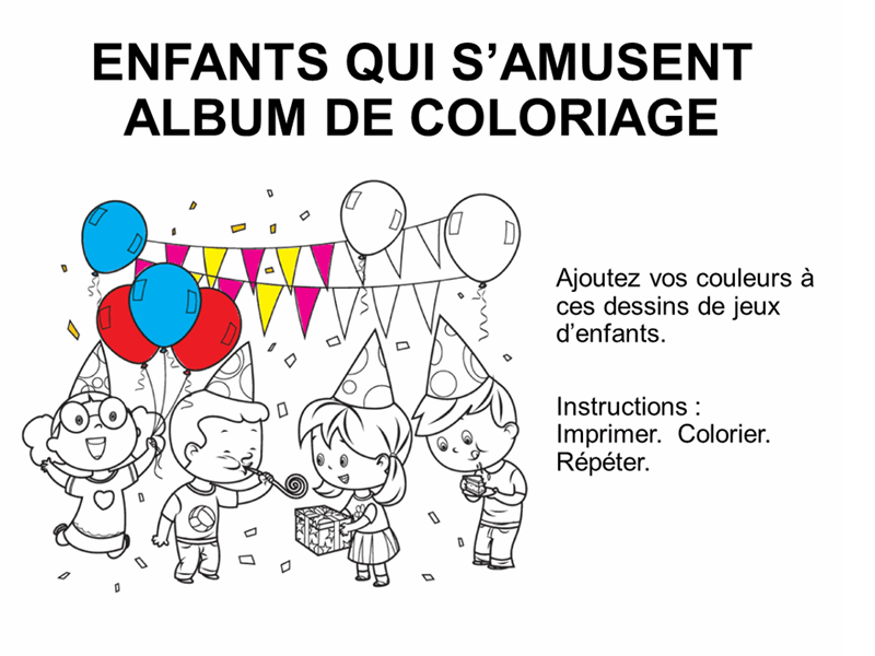 Album de coloriage Jeux d'enfants