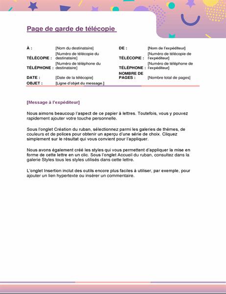 Pages De Garde De Telecopie Office Com