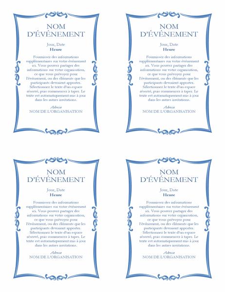 Circulaire d'annonce d'événement (4 exemplaires)
