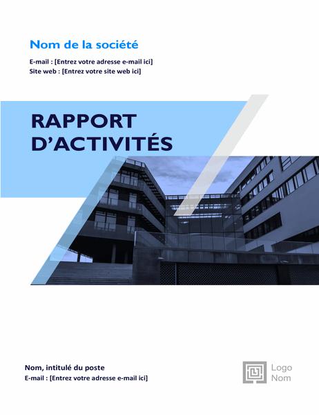 Rapport d'activités (conception graphique)