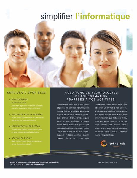 Prospectus pour entreprise technologique
