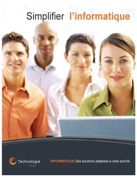 Affiche d'entreprise à vocation technologique (verticale)