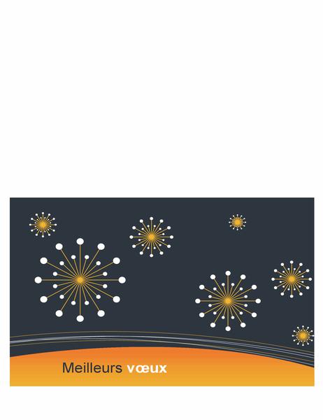 Carte de vœux de fêtes pour les entreprises de technologie (demi-pli)