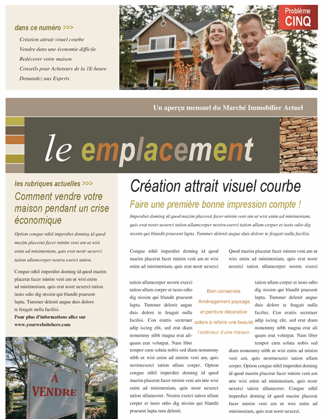Bulletin d'informations immobilière (4 pages)