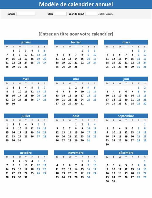 N'importe quelle année en un coup d'œil sur le calendrier (portrait)