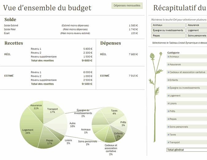 Budget familial (mensuel)