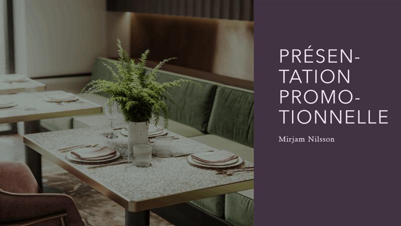 Argumentaire pour un restaurant