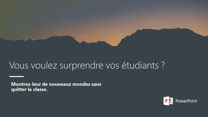 Vous voulez surprendre vos étudiants?