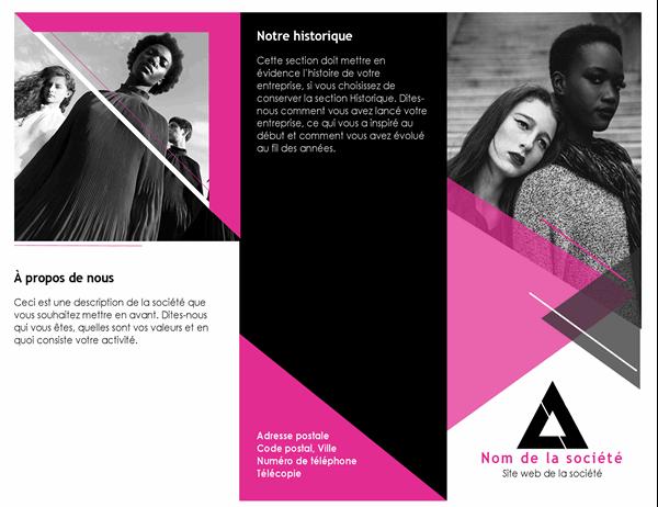 Brochure de mode