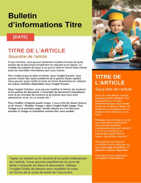 Bulletin d'informations scolaire