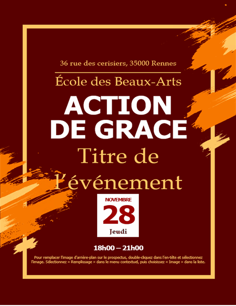 Prospectus d'invitation pour Thanksgiving
