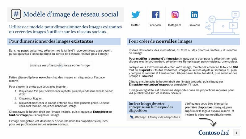 Modèle d'image de réseau social