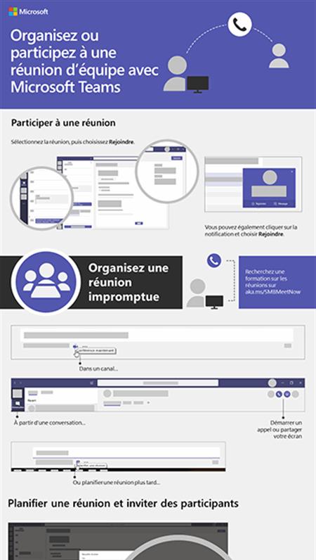 Organisez une réunion d'équipe ou participez-y avec Microsoft Teams