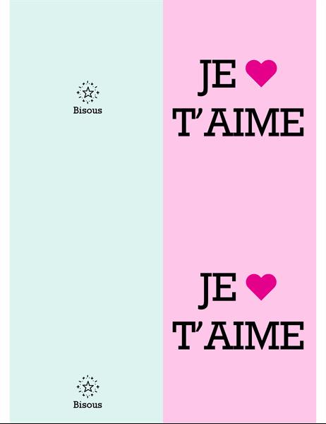 Je t'aime, ma Valentine