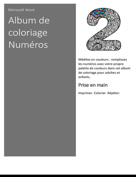Album de coloriage Numéros